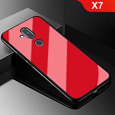 Custodia Silicone Ultra Sottile Morbida Specchio per Nokia X7 Rosso
