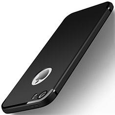 Custodia Silicone Ultra Sottile Morbida U01 per Apple iPhone 5S Nero