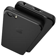 Custodia Silicone Ultra Sottile Morbida U02 per Apple iPhone 5S Nero