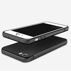 Custodia Silicone Ultra Sottile Morbida U04 per Apple iPhone 5S Nero