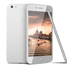 Custodia Silicone Ultra Sottile Morbida U15 per Apple iPhone 6S Bianco