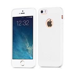Custodia TPU Morbida Lucido con Foro per Apple iPhone 5 Bianco