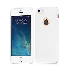 Custodia TPU Morbida Lucido con Foro per Apple iPhone SE Bianco