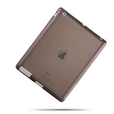 Custodia TPU Trasparente Ultra Sottile Morbida per Apple iPad 4 Grigio