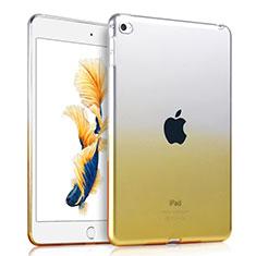 Custodia TPU Trasparente Ultra Sottile Morbida per Apple iPad Mini 4 Giallo