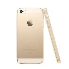 Custodia TPU Trasparente Ultra Sottile Morbida per Apple iPhone SE Oro