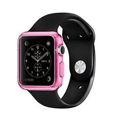 Custodia TPU Trasparente Ultra Sottile Morbida per Apple iWatch 42mm Rosa