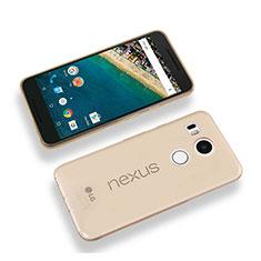 Custodia TPU Trasparente Ultra Sottile Morbida per Google Nexus 5X Oro