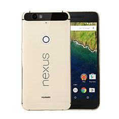 Custodia TPU Trasparente Ultra Sottile Morbida per Google Nexus 6P Oro
