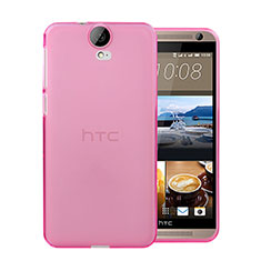 Custodia TPU Trasparente Ultra Sottile Morbida per HTC One E9 Plus Rosa