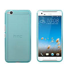 Custodia TPU Trasparente Ultra Sottile Morbida per HTC One X9 Blu