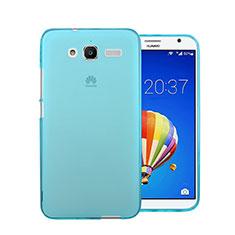 Custodia TPU Trasparente Ultra Sottile Morbida per Huawei Ascend GX1 Blu