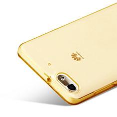 Custodia TPU Trasparente Ultra Sottile Morbida per Huawei G Play Mini Oro