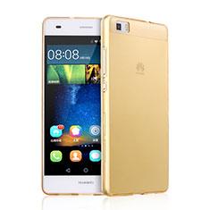 Custodia TPU Trasparente Ultra Sottile Morbida per Huawei P8 Lite Oro