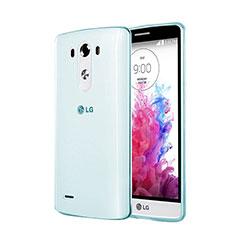 Custodia TPU Trasparente Ultra Sottile Morbida per LG G3 Blu