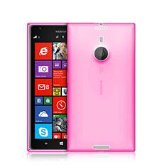 Custodia TPU Trasparente Ultra Sottile Morbida per Nokia Lumia 1520 Rosa