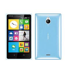 Custodia TPU Trasparente Ultra Sottile Morbida per Nokia X2 Dual Sim Blu