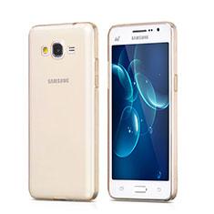 Custodia TPU Trasparente Ultra Sottile Morbida per Samsung Galaxy Grand Prime SM-G530H Oro