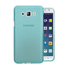 Custodia TPU Trasparente Ultra Sottile Morbida per Samsung Galaxy J5 (2016) J510FN J5108 Blu