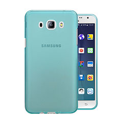 Custodia TPU Trasparente Ultra Sottile Morbida per Samsung Galaxy J5 Duos (2016) Blu