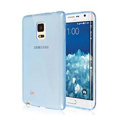 Custodia TPU Trasparente Ultra Sottile Morbida per Samsung Galaxy Note Edge SM-N915F Blu