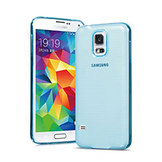 Custodia TPU Trasparente Ultra Sottile Morbida per Samsung Galaxy S5 G900F G903F Blu