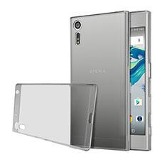 Custodia TPU Trasparente Ultra Sottile Morbida per Sony Xperia XZ Grigio