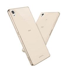 Custodia TPU Trasparente Ultra Sottile Morbida per Sony Xperia Z5 Oro