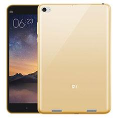Custodia TPU Trasparente Ultra Sottile Morbida per Xiaomi Mi Pad 3 Oro