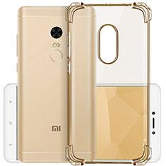 Custodia TPU Trasparente Ultra Sottile Morbida per Xiaomi Redmi Note 4 Standard Edition Oro