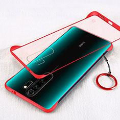 Custodia Ultra Slim Trasparente Rigida Cover Opaca per Xiaomi Redmi Note 8 Pro Rosso