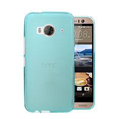 Custodia Ultra Slim Trasparente Rigida Opaca per HTC One Me Cielo Blu