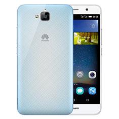 Custodia Ultra Slim Trasparente Rigida Opaca per Huawei Y6 Pro Blu