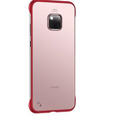 Custodia Ultra Sottile Trasparente Rigida Cover Opaca H01 per Huawei Mate 20 Pro Rosso