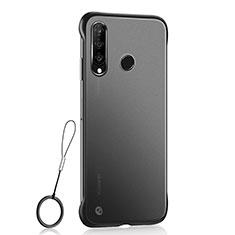 Custodia Ultra Sottile Trasparente Rigida Cover Opaca H05 per Huawei P30 Lite Nero