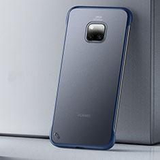 Custodia Ultra Sottile Trasparente Rigida Cover Opaca U01 per Huawei Mate 20 Pro Blu