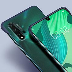 Custodia Ultra Sottile Trasparente Rigida Cover Opaca U01 per Huawei Nova 5 Pro Blu