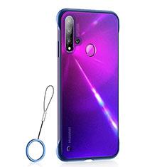 Custodia Ultra Sottile Trasparente Rigida Cover Opaca U01 per Huawei P20 Lite (2019) Blu