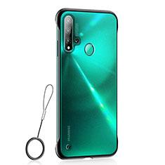 Custodia Ultra Sottile Trasparente Rigida Cover Opaca U01 per Huawei P20 Lite (2019) Nero