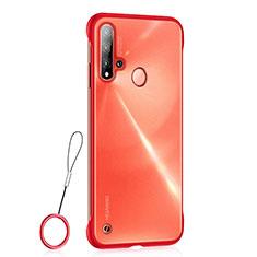 Custodia Ultra Sottile Trasparente Rigida Cover Opaca U01 per Huawei P20 Lite (2019) Rosso