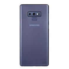Custodia Ultra Sottile Trasparente Rigida Cover Opaca U01 per Samsung Galaxy Note 9 Blu