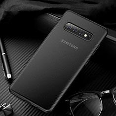 Custodia Ultra Sottile Trasparente Rigida Cover Opaca U01 per Samsung Galaxy S10 Nero