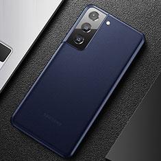 Custodia Ultra Sottile Trasparente Rigida Cover Opaca U01 per Samsung Galaxy S21 5G Blu