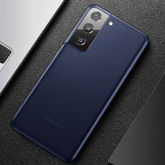 Custodia Ultra Sottile Trasparente Rigida Cover Opaca U01 per Samsung Galaxy S21 Plus 5G Blu