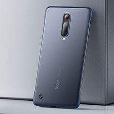 Custodia Ultra Sottile Trasparente Rigida Cover Opaca U01 per Xiaomi Mi 9T Blu
