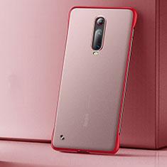 Custodia Ultra Sottile Trasparente Rigida Cover Opaca U01 per Xiaomi Mi 9T Rosso