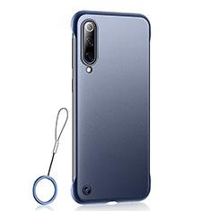 Custodia Ultra Sottile Trasparente Rigida Cover Opaca U01 per Xiaomi Mi A3 Blu