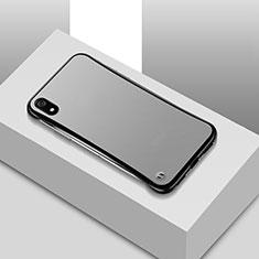 Custodia Ultra Sottile Trasparente Rigida Cover Opaca U01 per Xiaomi Redmi 7A Nero