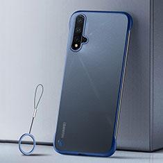 Custodia Ultra Sottile Trasparente Rigida Cover Opaca U02 per Huawei Nova 5 Blu