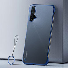 Custodia Ultra Sottile Trasparente Rigida Cover Opaca U02 per Huawei Nova 5 Pro Blu